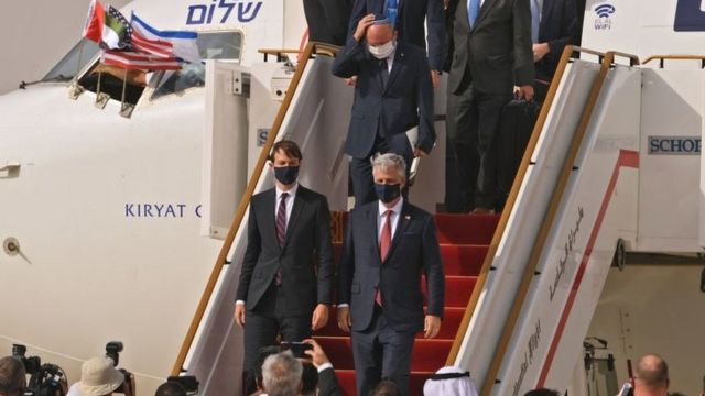 The arrival of the first direct flights from Israel to the Emirates