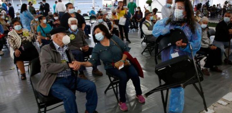 Plan de vacunación masiva en Chile.
