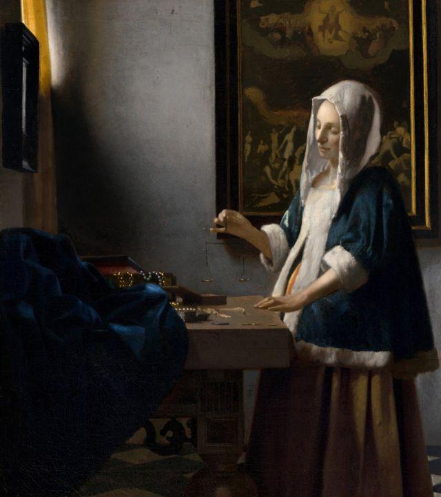 Mujer con la balanza, 1662-1665