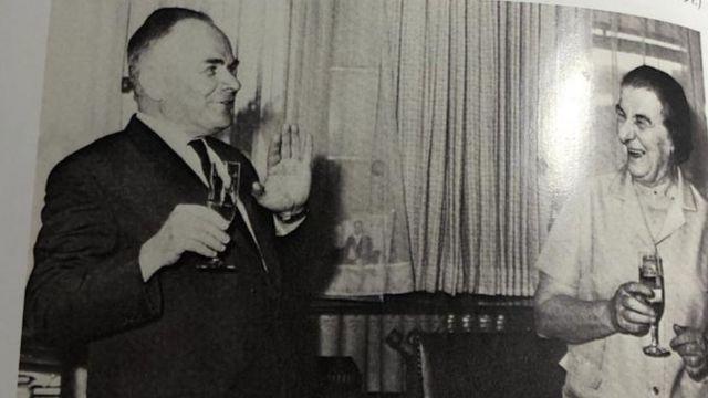 Golda Meir and the Soviet Ambassador to Israel