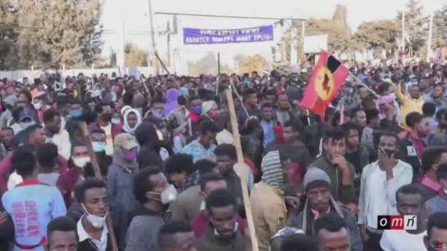 Dad badan ayaa isugu soo baxay magaalada Addis Ababa, si ay ugu baroor diiqaan fannaanka la dilay