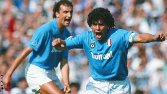 Diego Maradona Napoli'de