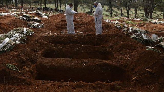 Cemitério em SP com valas abertas