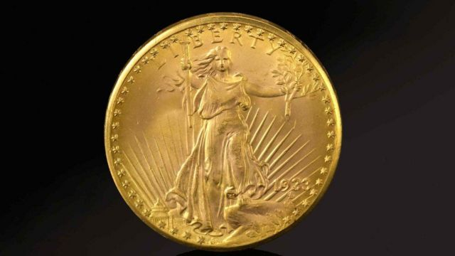 Gold coin sold at auction