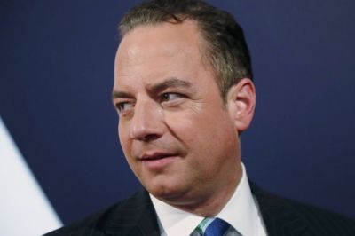 Republican National Committee Chair Reince Priebus at a debate in Longwood University in Farmville, Virginia, 4 October