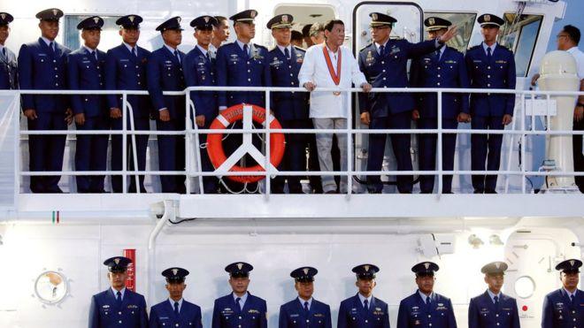 Tổng thống Philippines Rodrigo Duterte khai trương tàu tuần tra do Nhật Bản chế tạo cho hải quân nước này