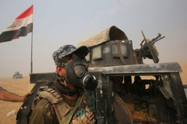 Fuerzas iraquíes en el sur de Mosul, octubre 24, 2015