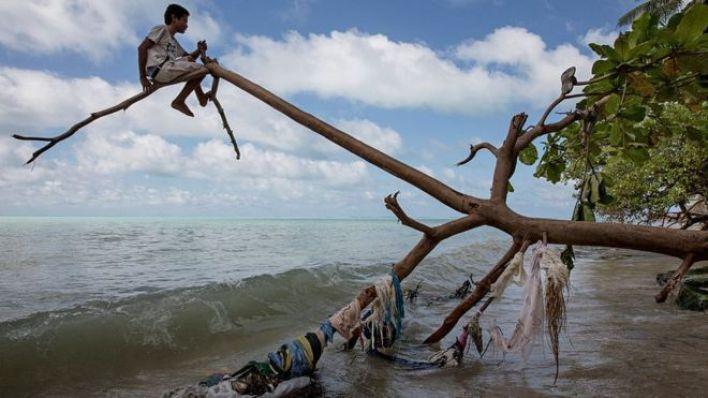 Kiribati, Pasifik Okyanusu'nda iklim değişikliği tarafından en fazla tehdit edilen yerlerden biri