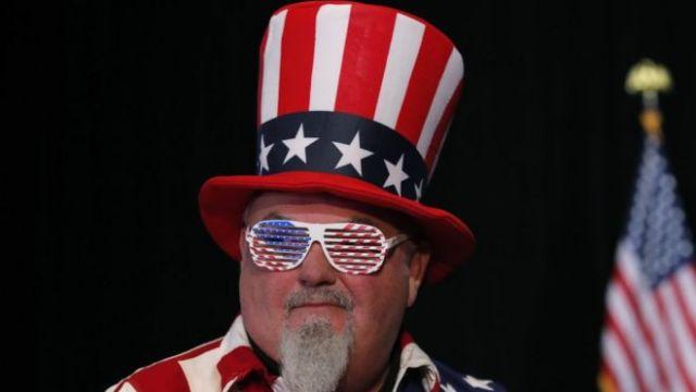 Simpatizante del republicano Mike Braun en Indiana
