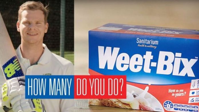 Steve Smith in Weet-Bix advert