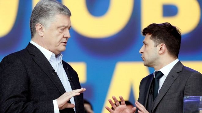 Resultado de imagen para zelensky vs poroshenko