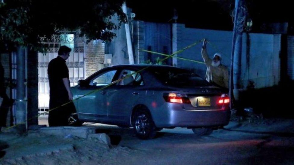 Scene of Abidi's killing, 26 December