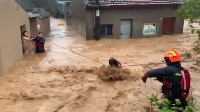 Woman rescued from house