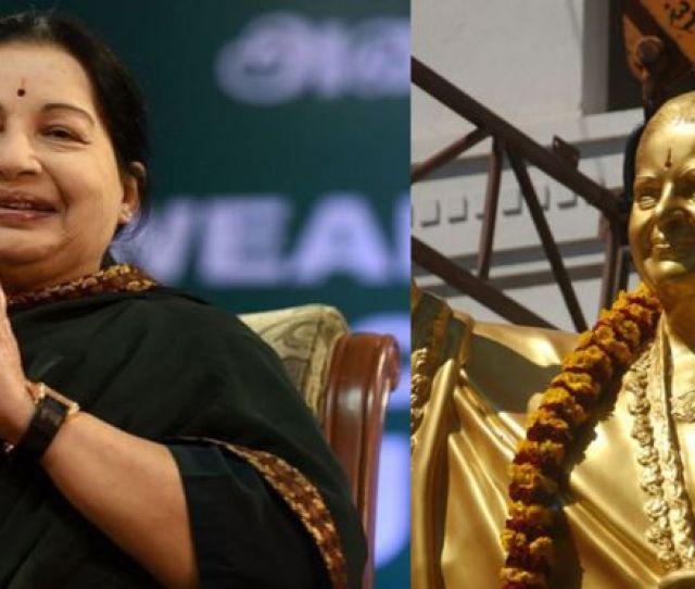 Jayalalitha Tamil Nadu Party To Change Statue Of Ex Leader After Backlash