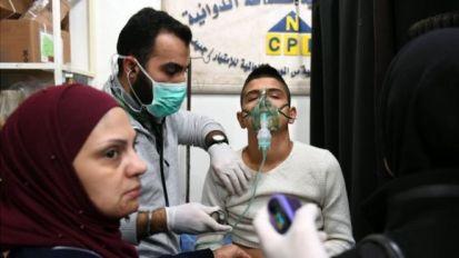 A Syrian boy receive treatment at a hospital in Aleppo on 24 November 2018