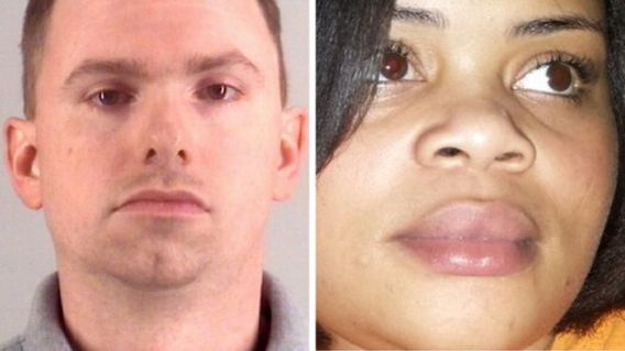 Composite image of Aaron Dean and Atatiana Jefferson