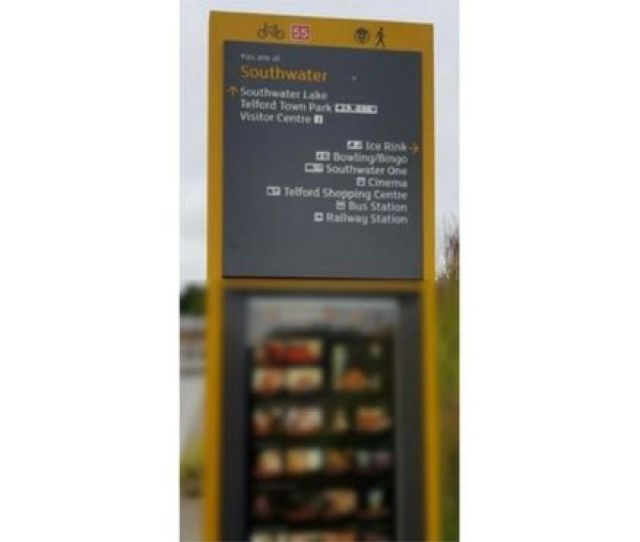 An Information Sign In Telford That Temporarily Displayed Pornographic Images