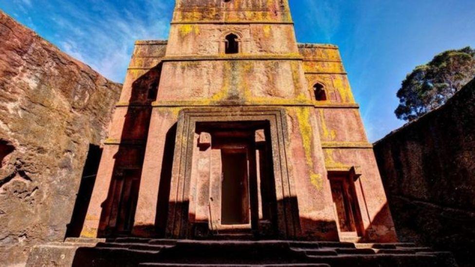Uno de los templos de Lalibela