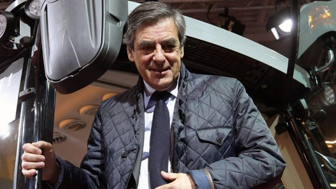 Francois Fillon visits the SIMA (Mondial des Fournisseurs de l'Agriculture et de l'Elevage) on February 28, 2017