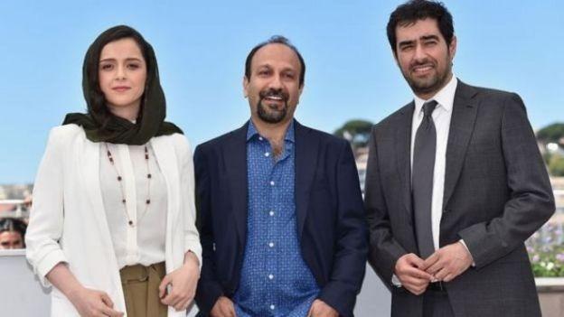 ترانه علیدوستی، اصغر فرهادی و شهاب حسینی در کن