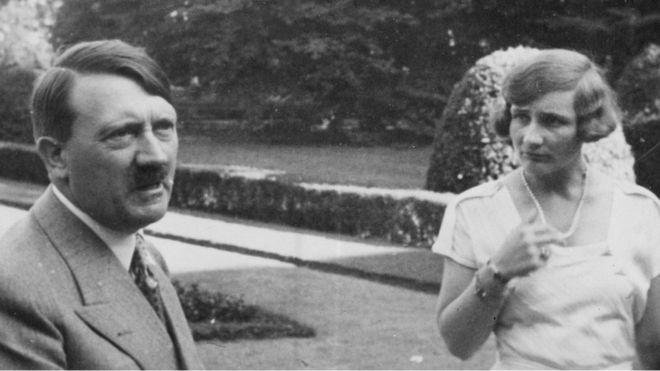 Unity Mitford y Adolf Hitler