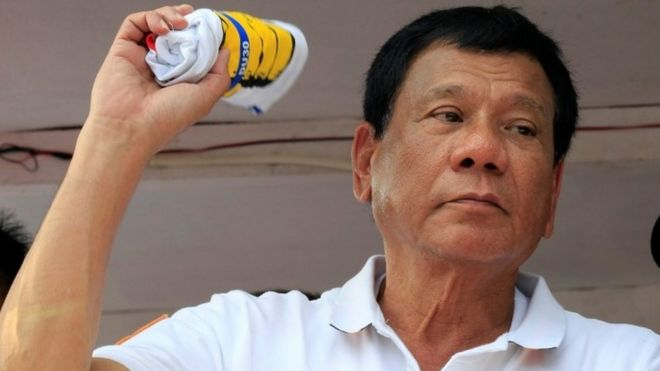 Philippines presidential candidate Rodrigo Duterte (12 April 2016)
