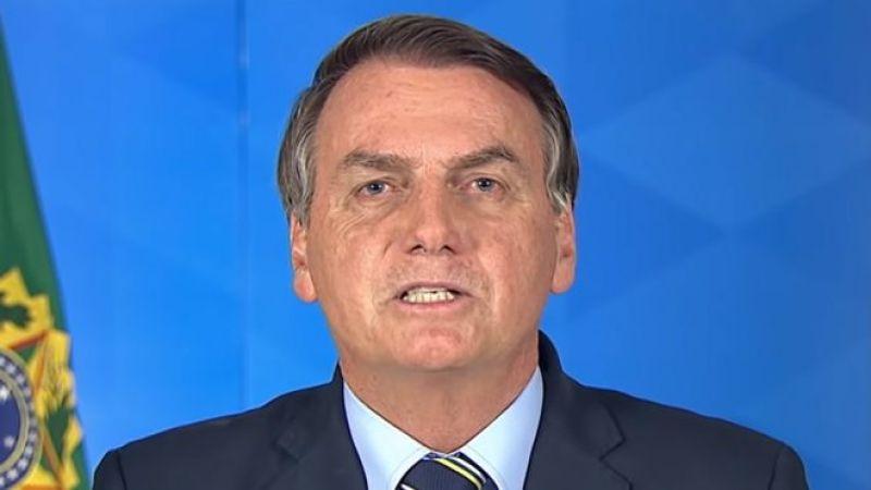 O presidente Jair Bolsonaro durante o pronunciamento realizado em 24 de março de 2020