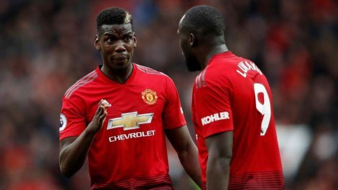 Manchester Uniteds Paul Pogba And Romelu Lukaku