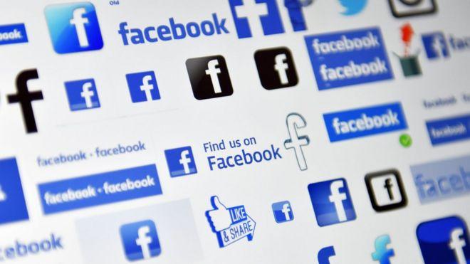 画面上のFacebookのロゴ