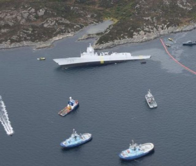 The Norwegian Frigate Knm Helge Ingstad And The Tanker Sola Ts Collided In The Hjeltefjorden