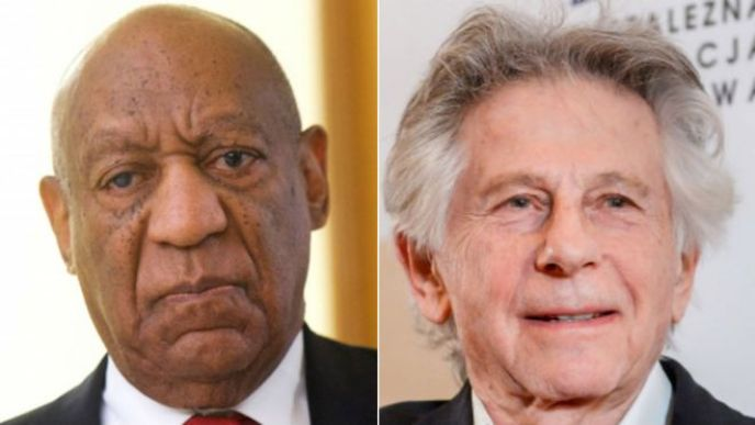 Bill Cosby (left) and Roman Polanski. Archive photos