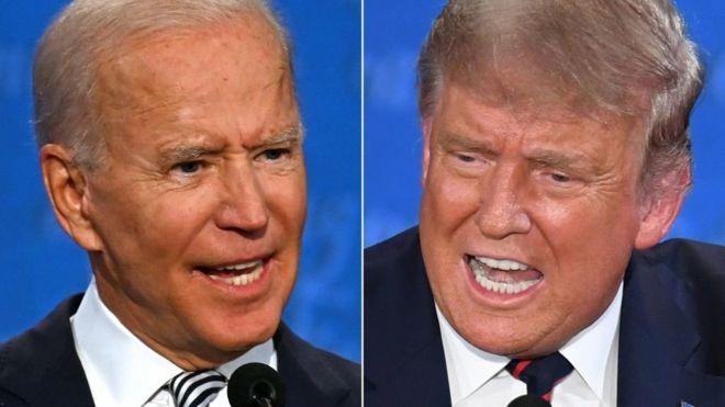 الرئيس الأمريكي والمرشح الديمقراطي