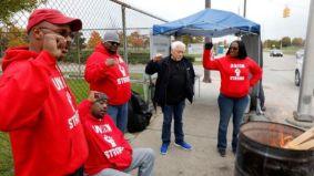 Striking GM workers