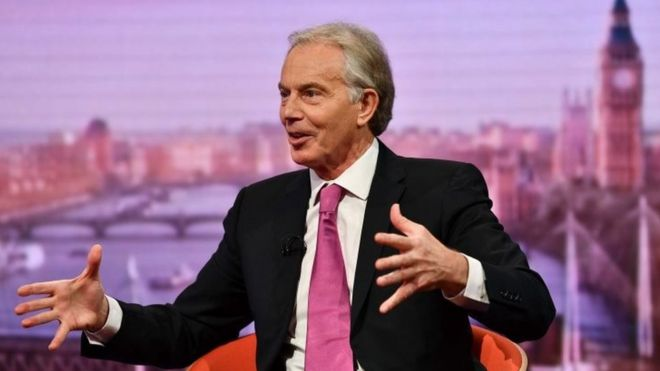 "Tony Blair: Tony Blair says he is staying in the Labour Party despite having a ""great deal of sympathy"" with breakaway MPs."