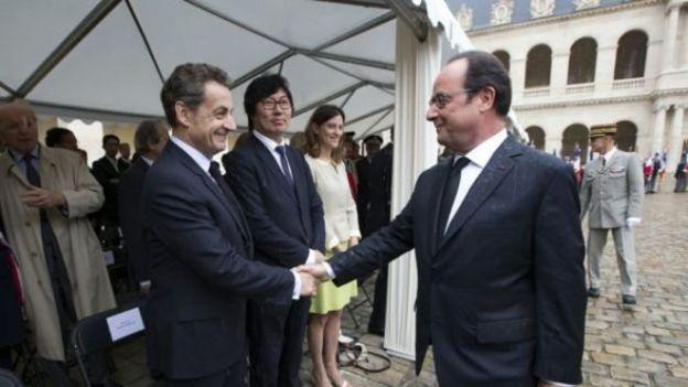 Francois Hollande iyo Nicolas Sarkozy