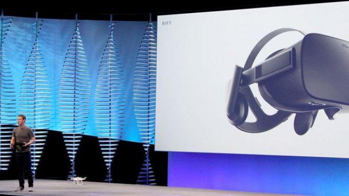 Mark Zuckerberg presents the Oculus Rift