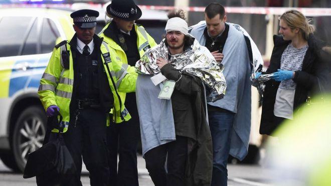 Injured man at Westminster