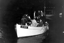 A fishing boat involved in the rescue