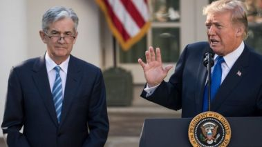 Jerome Powell and Donald Trump