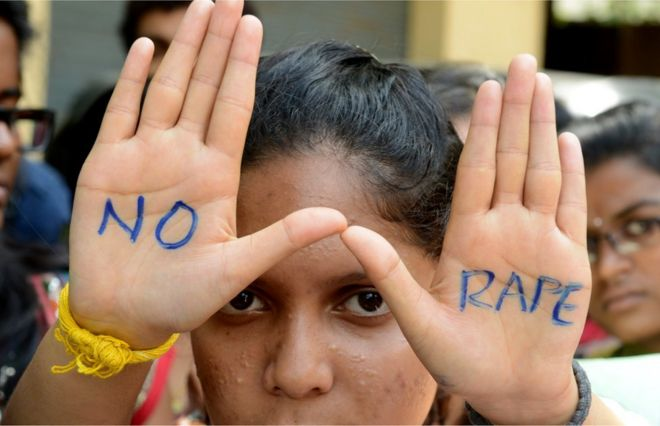 Indian students of Saint Joseph Degree college participate in an anti-rape protest in Hyderabad on September 13, 2013.