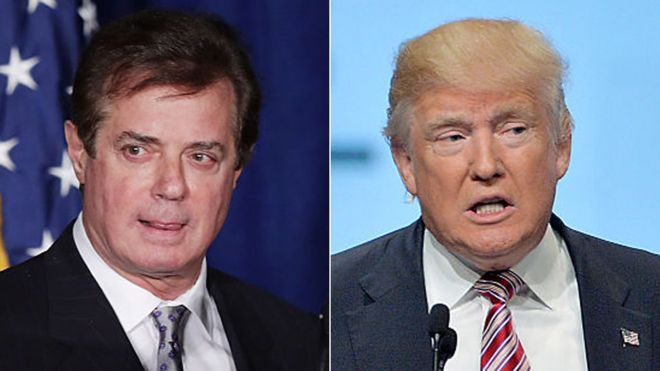 Image result for images of Paul Manafort and Trump