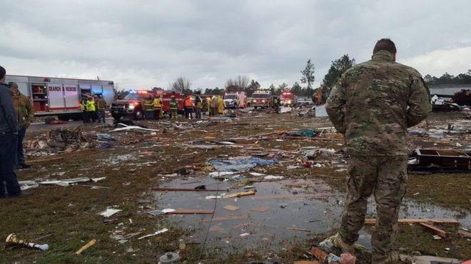 Parque destruido por el tornado