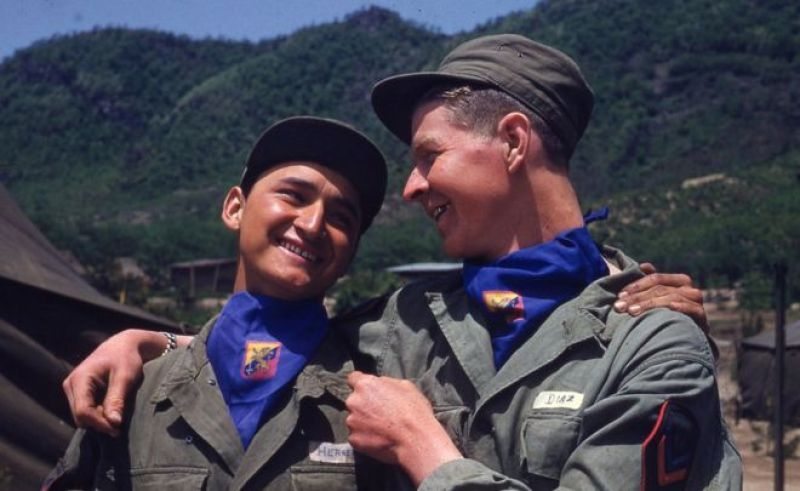 Soldados colombianos de buen humor