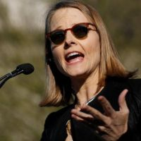 Jodie Foster leads anti-Trump protest