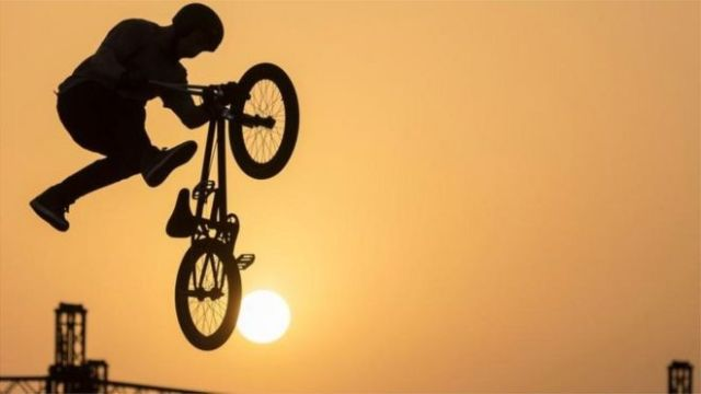 Jeddah of Saudi Arabia, A Contestant in the BMX Free Style Bike Racing Competition