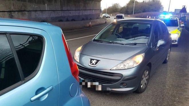 Crash on the M1 junction 25