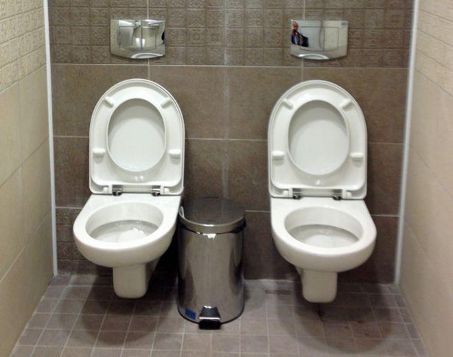 Image result for american toilet cubicles v british cubicles meme