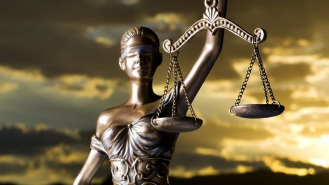 Image result for blindfolded judges