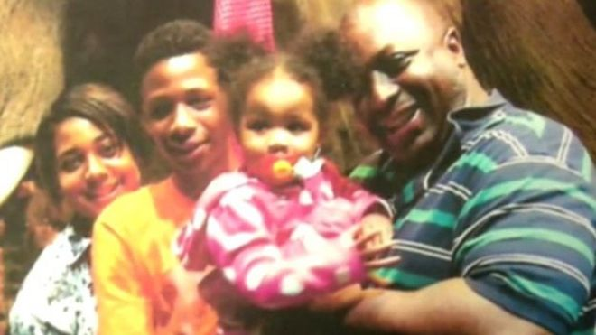Eric Garner pictured in a family photo