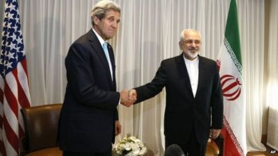 Image result for Kerry and Rouhani shaking hands